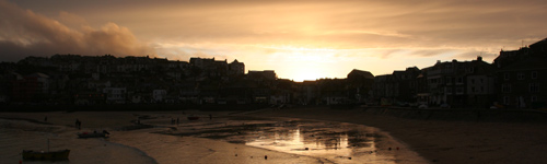 St Ives at sunset