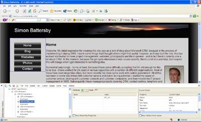 IE Dev Toolbar screenshot