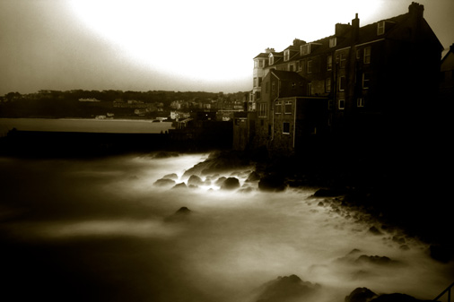 Stormy sea, St Ives
