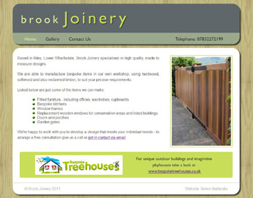 Brook Joinery website