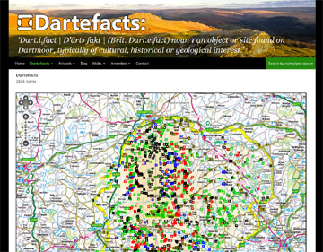 Dartefacts website