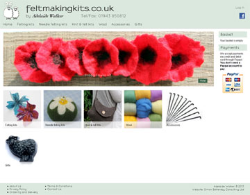 feltmakingkits.co.uk website