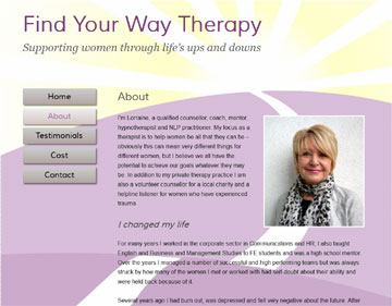 Find Your Way Therapy website