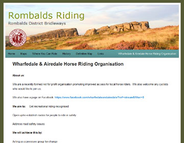 Rombalds Riding website