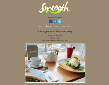 Smoooth Cafe website